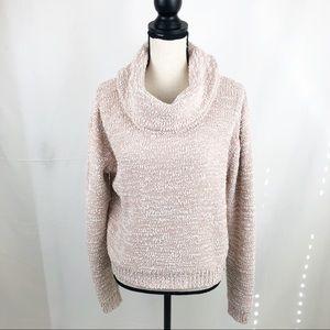 New York & Company Blush Chunky Cowl Neck Sweater